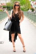 pull&bear dress - Zara bag - Zara heels