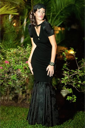 black fish tail Agata Zabek Fashion dress