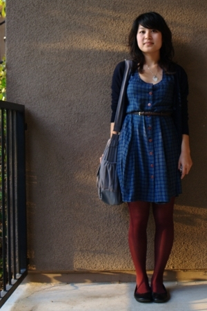 vintage from Ebay dress - Charlotte Russe belt - Forever21 sweater - Payless Sho