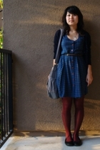 vintage from Ebay dress - Charlotte Russe belt - Forever21 sweater - Payless Sho