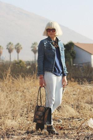 vintage purse - Rachel Comey boots - thvm jeans - Helmut Lang jacket