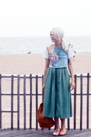 vintage skirt - dieppa restrepo shoes - TenOverSix bag