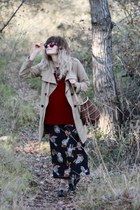 African bag - Aldo shoes - zebra print vintage dress - trench Gap jacket