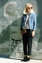 black Rachel Comey shoes - sky blue Helmut Lang jacket - navy J Crew shirt