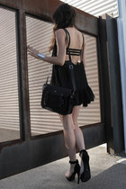 black One Teaspoon dress - black Cambridge Satchel co purse
