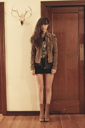 brown LF jacket - tan Chole Sevigny x Opening Ceremony boots