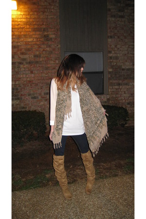True Religion jeans - H&M jacket - Village Experience scarf