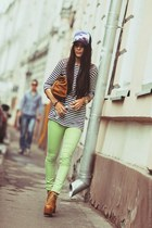 chartreuse pull&bear jeans - light orange Jeffrey Campbell boots
