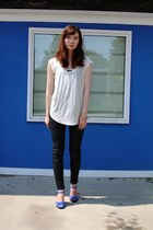 coated denim rag & bone jeans - Talula t-shirt - Urban Outfitters necklace