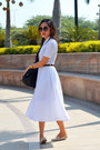 White-60s-dress-aj-dress-forever21-sunglasses-vintage-belt-aj-belt