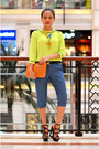 Orange-clutch-bysi-bag-neon-bysi-top-waist-bysi-belt-bysi-pants