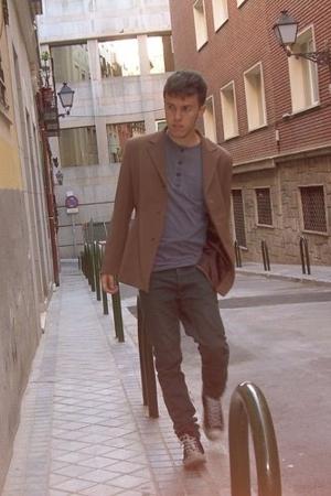 handmade jacket - Gap shirt - H&M jeans - Converse shoes