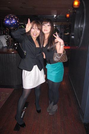 black Forever 21 shirt - green H&M skirt - gray esperanza boots - black Forever