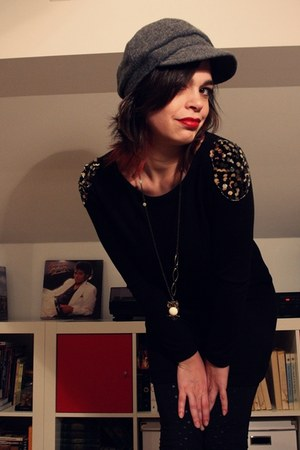 no name dress - NewYorker tights - Stradivarius necklace - H&M hat
