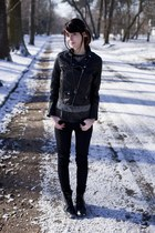 black Dr Martens boots - black H&M jacket - charcoal gray Zara shirt