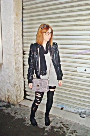 BLANCO jacket - Bershka dress - Primark purse - Zara leggings