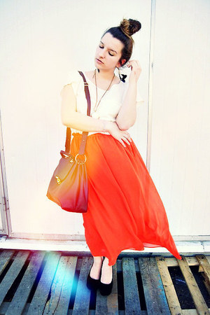orange Sheinside skirt