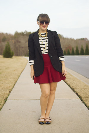 ruby red asos skirt - black boyfriend Target blazer