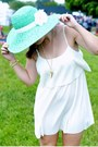 Gold-jewelmint-bracelet-white-xxi-dress-aquamarine-xxi-hat
