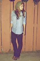 Jessica Simpson clogs - Hurley jeans - thrifted hat - Sound & Matter shirt
