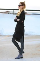 black tunic Cheap Monday top