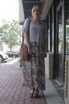 Treasure Rock dress - vintage coach bag - big buddha wedges - frenzii top