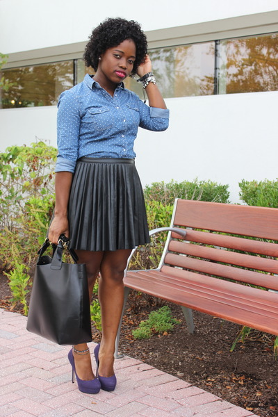 dotted chambray forever 21 shirts shopper zara bags
