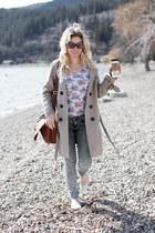 Forever 21 jeans - BB Dakota jacket - H&M bag - Gap flats