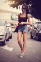 jeans Chicwish shorts - Alana Ruas accessories - Schutz heels