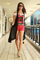 Leader shirt - Zara bag - Zara shorts - Schutz heels