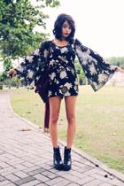 black PERSUNMALL boots - Vintage Shop dress