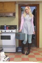 Thrift Store accessories - JCPennys tights - Wet Seal necklace - Wet Seal access