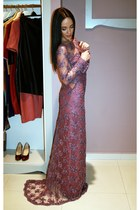 amethyst lace Elens by Tabita Gliga dress