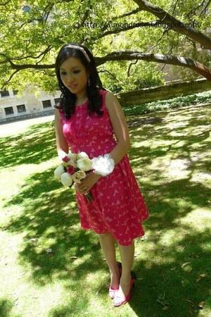hot pink Alannah Hill dress - pink hairband Equip accessories - hot pink Vincci
