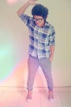 filippo alpi shirt - aeropostale pants - converse sneakers