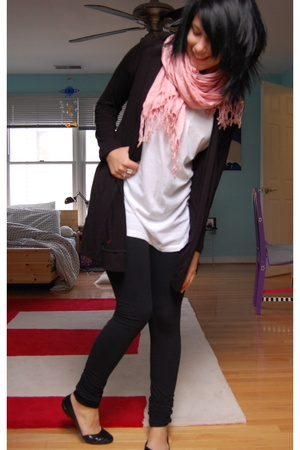 gift scarf - Target sweater - trinity shirt - So Low tights - Steve Madden shoe