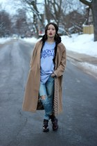 Urban Outfitters boots - asos coat