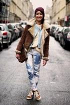 Zara jeans - Oakwood coat - Zara sneakers