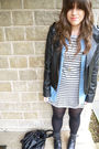 Gray-warehouse-dress-topshop-shirt-black-river-island-jacket-black-asos-pu