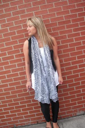H&M vest - H&M scarf - American Apparel shirt - American Apparelm leggings - Ald