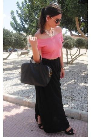 black fun&basics bag - black Ale Hop sunglasses - black Stradivarius pants