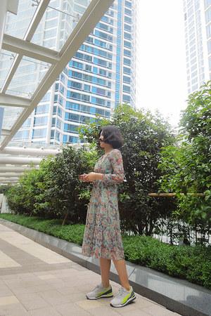 chiffon deersalad dress