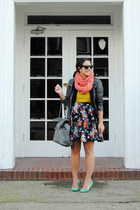 Faryl Robin heels - jacket - scarf - Forever 21 blouse - H&M skirt