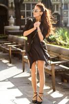 black spring 2014 Aldo heels - black side zipped Choies blazer