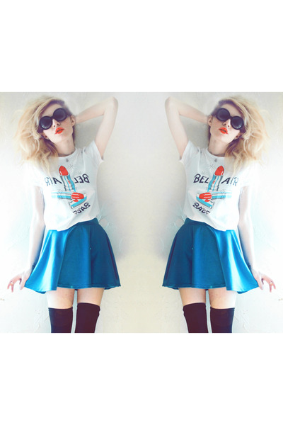 bel air babe lavagrantbelle shirt - PacSun skirt