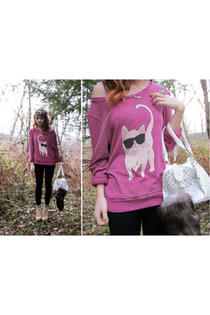 cat sweater wildfox couture jumper