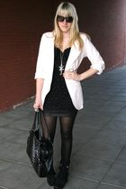 new look blazer - H&M skirt - pieces purse