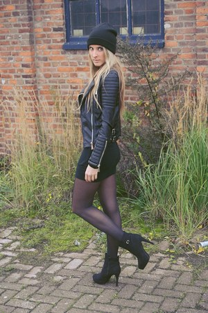 black ankle boots H&M boots - black SuperTrash dress