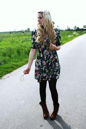 Primark dress - H&M boots
