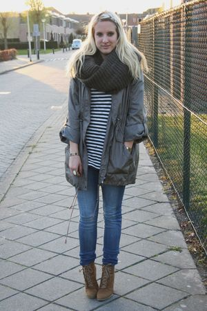 Primark coat - H&M top - Zara shoes - H&M jeans